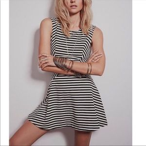 Free People striped skater dress size xs